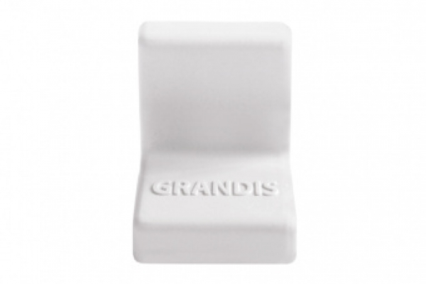 Накладка на уголок мебельный пластиковая 20*20 мм белая