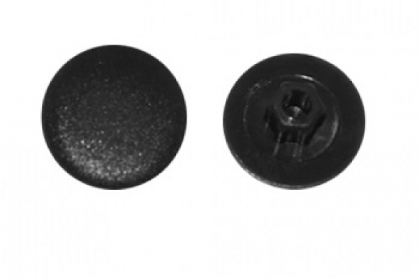Заглушка на конфирмат №12 Черная (50 шт)