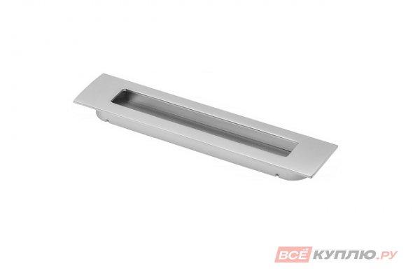 Ручка врезная мебельная UZ-E6-128-05 алюминий