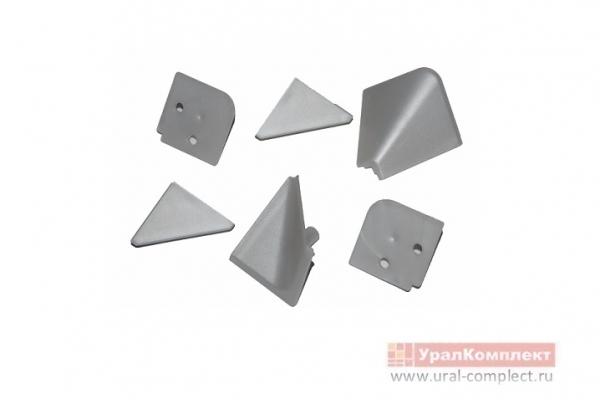 Заглушки к алюминиевому плинтусу серые