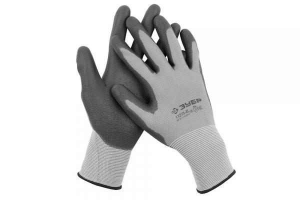"""Перчатки для точных работ с полиуретановым покрытием ЗУБР """"MASTER"""" (11275-L)"""