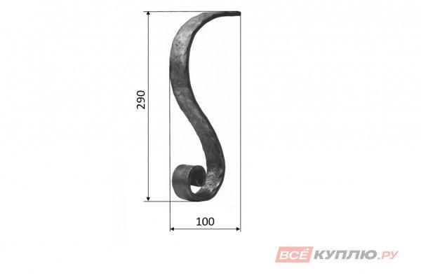Окончание к поручню 114/12 290*100 мм (116/8)