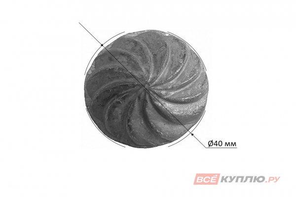Заклёпка кованная (большая) вертушка Ø40 мм, ≠15 мм (3-3)