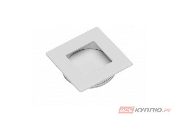 Ручка врезная мебельная квадратная 40х40 мм UZ В226 белый