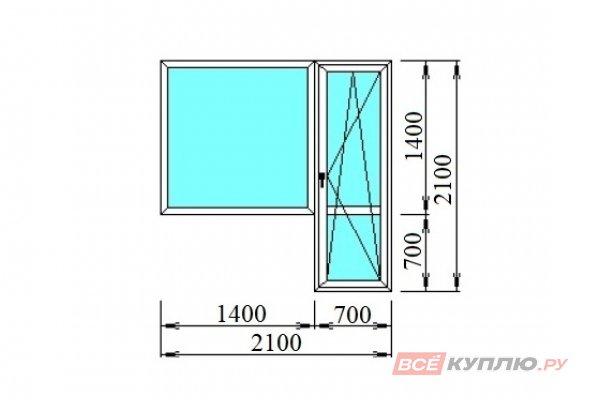 Блок балконный 2100*2100 мм