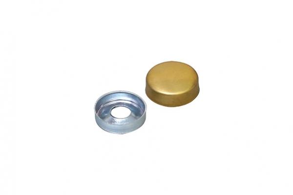 Крышечка декоративная D12 мм латунь (с базой для шурупа) 01.0066