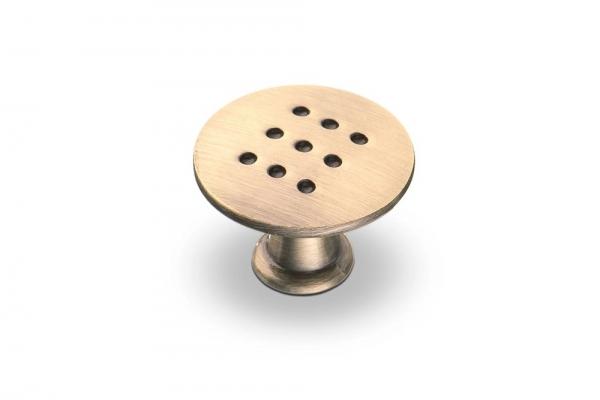 Ручка-кнопка мебельная бронза (К-1060 BA)