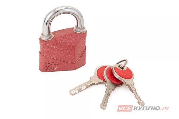 Замок навесной АВАНГАРД ВС2Д-50 ДИСКО красный (2755)