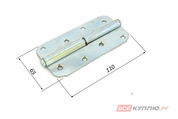 Петля накладная Кунгур ПН1-110 левая цинк (3247)