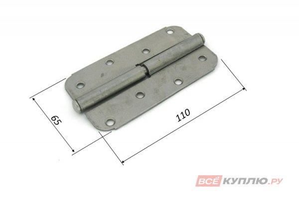 Петля накладная Кунгур ПН1-110 левая без покрытия