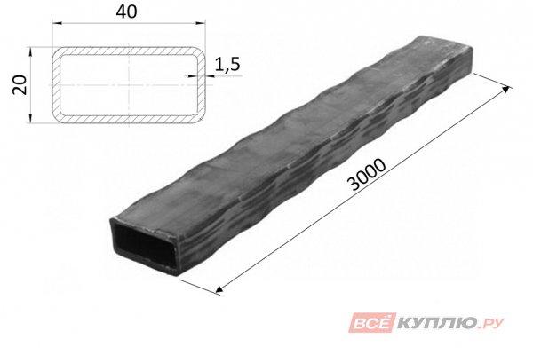 Труба прокатанная по ребрам 40*20*1,5*3000 мм (ПР1/40*20)