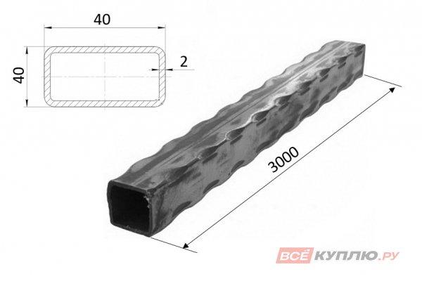 Труба прокатанная по ребрам 40*40*2*3000 мм (ПР1/40*40)