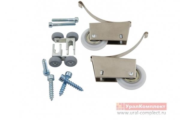 Ролики для алюминиевой системы шкафов-купе 2+2 асимметрия 38,5*19 мм STERN