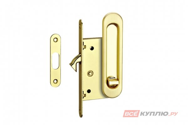Ручки с замком для раздвижных дверей TIXX SDH-BK 501 SG матовая латунь (6726)