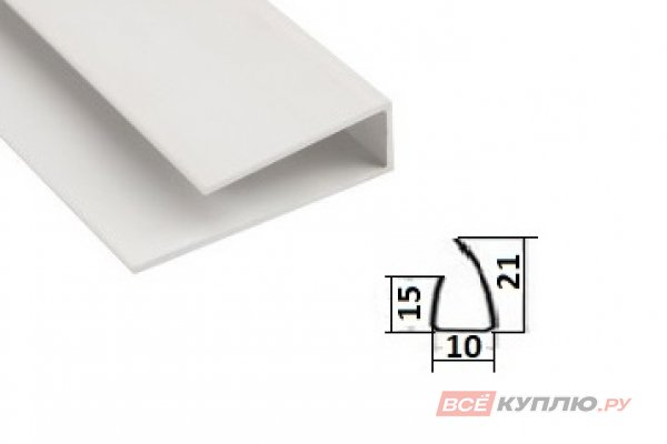 Стартовый профиль для панели ПВХ 3 м белая