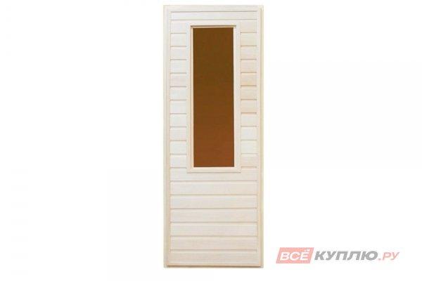Дверной блок с 1-окном 1750*700 (липа/липа)
