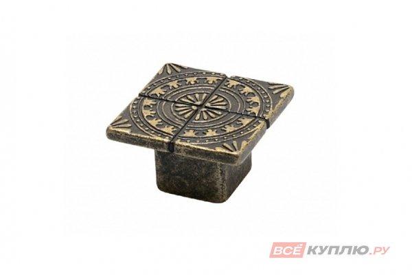 Ручка кнопка AZTEK L-12 старое золото