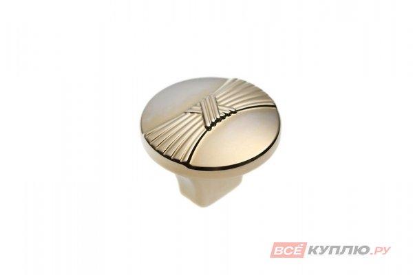Ручка-кнопка мебельная FB-028 000 Золото (TS)