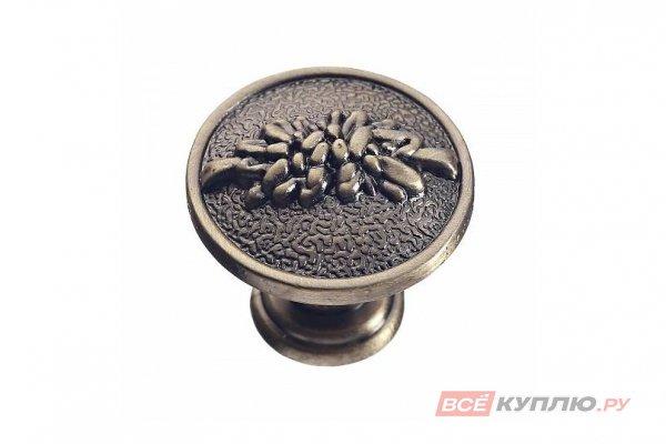 Ручка кнопка ARDEA брашированная латунь
