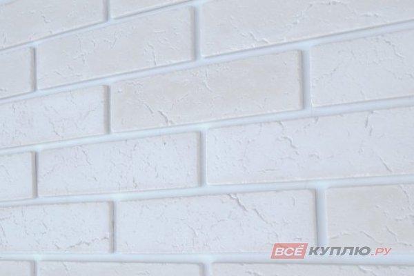 """Камень искусственный """"Классика"""" белый 1,0 м2, 66 шт 220х55 мм"""