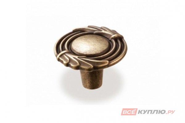 Ручка-кнопка мебельная FB-055 000 бронза полированная (То)