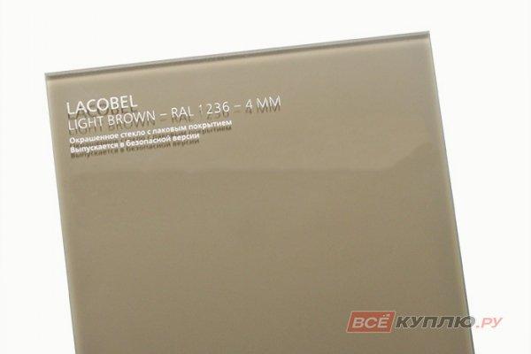 Стекло Lakobel светло-коричневое (RAL 1236) 2550*1605*4 мм (цена за лист)