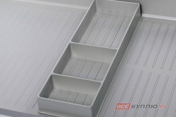 Органайзер для поддонов гигиенических, отделка под алюминий (920/МС)