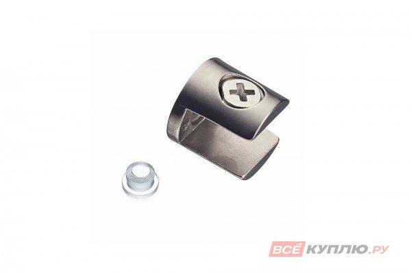Полкодержатель J65 для стеклянных полок 10 мм инокс