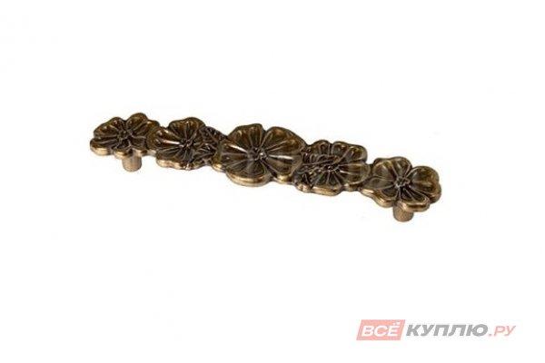 Ручка-скоба мебельная Giusti 128 мм WMN706.128.00A8 золотистая бронза