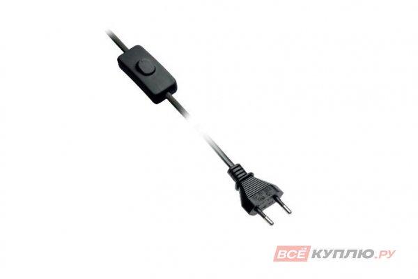 Провод с выключателем 2 м, черный LD-KABE2M-00