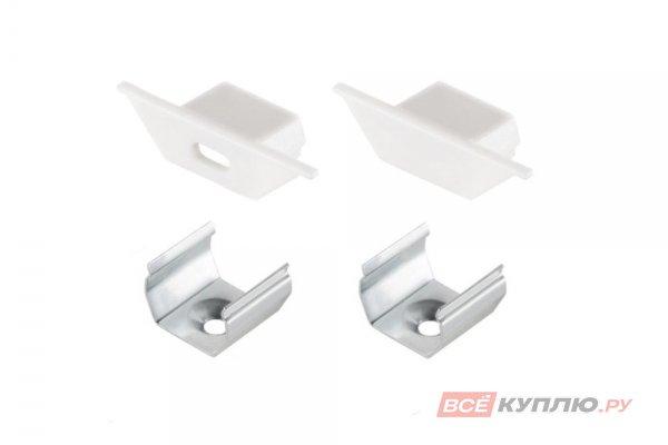 Заглушки для алюминиевого профиля LR41 с крепежом (2 заглушки и 2 крепежа)