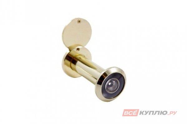 Глазок дверной АЛЛЮР ГД-3 БШт 50-75 мм d=14 мм золото