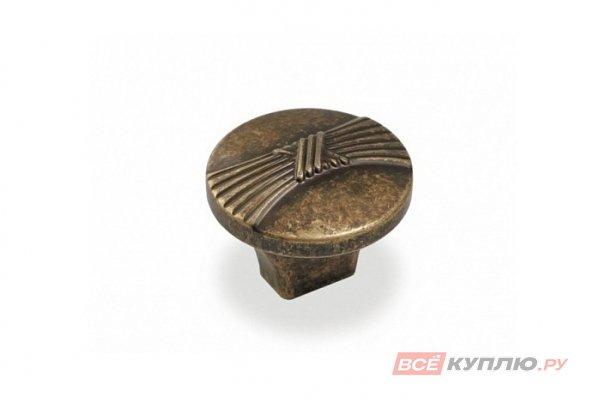 Ручка-кнопка мебельная FB-028 000 старая бронза (TS)