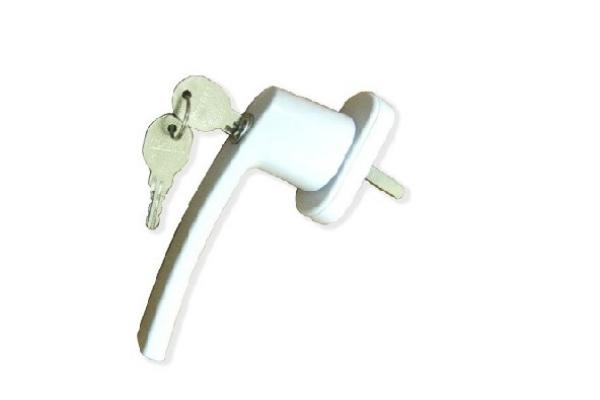 Ручка оконная с ключом белая (WH 008)