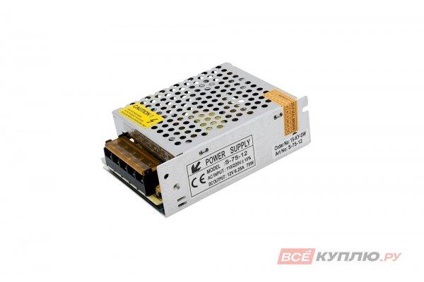 Блок питания для светодиодов 220/12V 75W, IP20 сетка