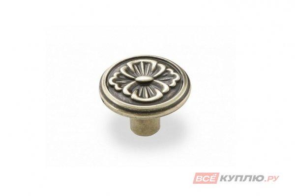 Ручка-кнопка мебельная FB-025 000 бронза полированная (TS)