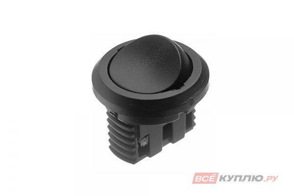 Выключатель D27 встраиваемый IP20,5A, 250B (27х27х21 мм), черный (14776)