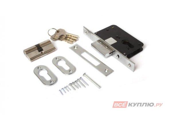 Замок дверной Апекс б/ручки 95/60-СR с цилиндром (7978)