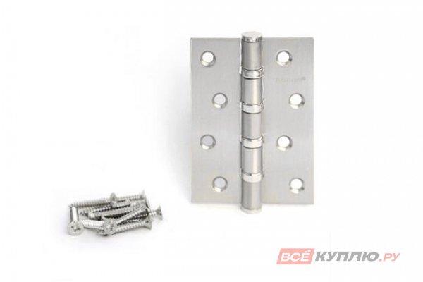Петля дверная накладная АПЕКС 100*70*B4-NIS матовый никель
