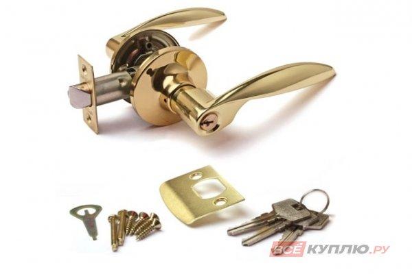 Защёлка Апекс 8020-01-G  ключ/фиксатор золото