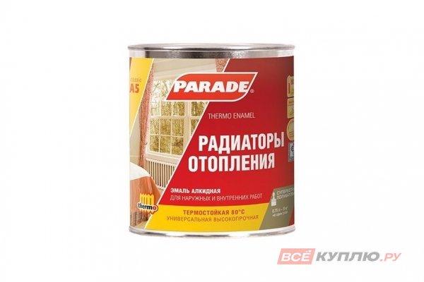 """Эмаль А5 80°С Радиаторы отопления """"PARADE"""" CLASSIC белая полуматовая 0,45 л"""