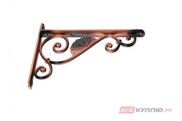 Полкодержатель Barocco B 18 см античная медь
