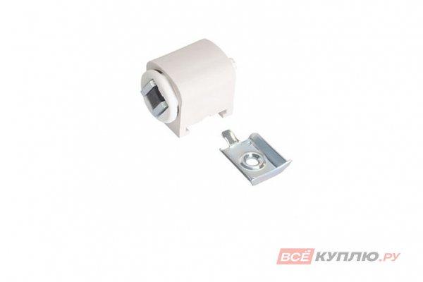 Магнит мебельный накладной К6 регулируемый с ответной планкой белый (01.0644)