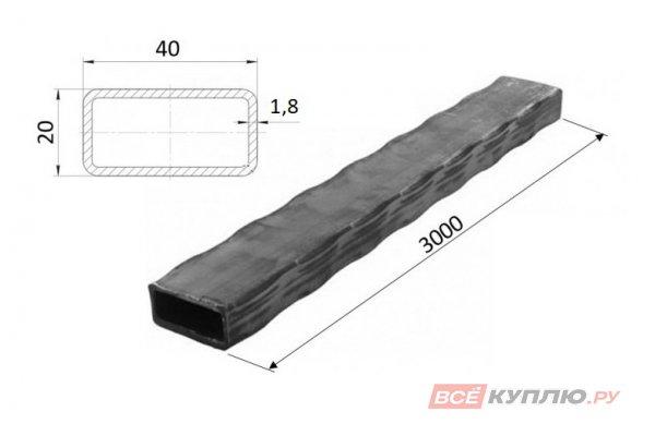 Труба прокатанная по ребрам 40*20*1,8*3000 мм
