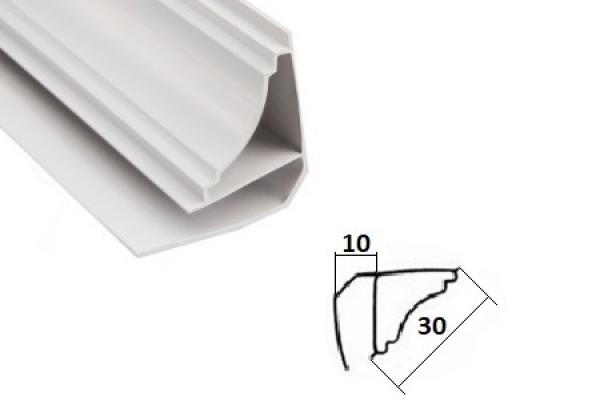 Плинтус потолочный для панели ПВХ 3 м белый