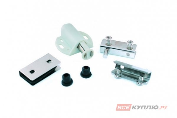 Пуш-фиксатор магнитный для 1-ой стеклянной двери хром