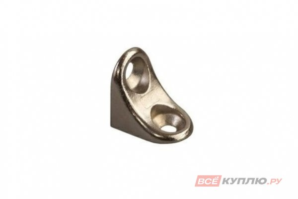 Полкодержатель мебельный с двумя отверстиями никель (HW.002.001)