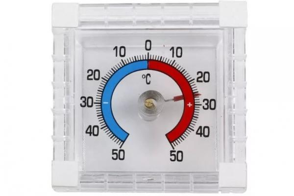 Термометр оконный биметаллический ТББ (квадратный)