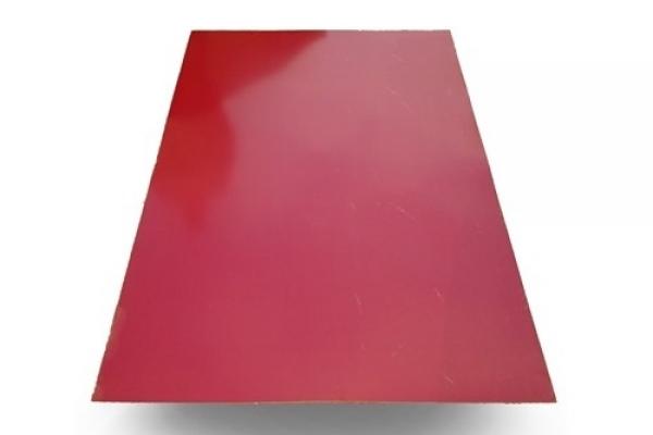 Лист окрашенный плоский 0,45 мм 1250*3000 мм красный (RAL3005)
