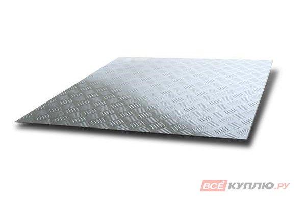 Лист алюминиевый рифленый Квинтет 300*1200*1,5 мм (Лкв 01.05.00)